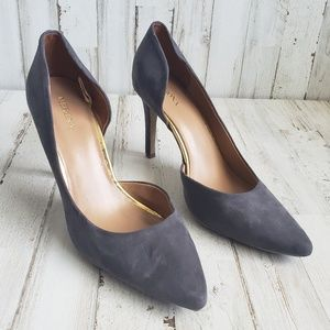 Merona Slate Gray Pointed Toe Heel